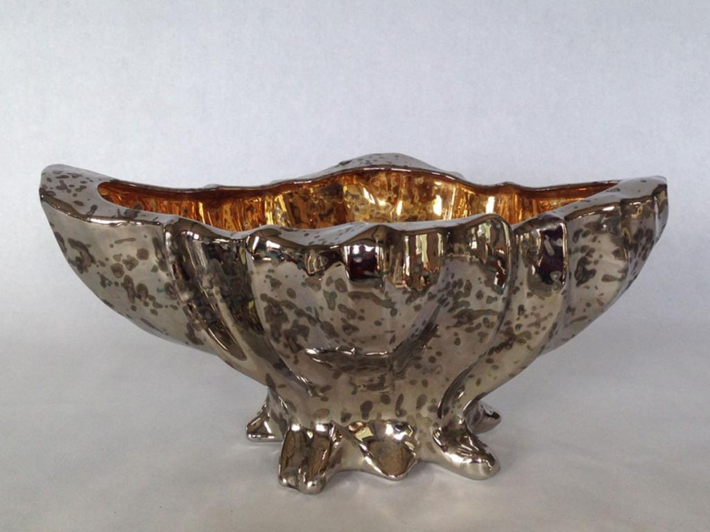 platinum and gold bowl for my roses